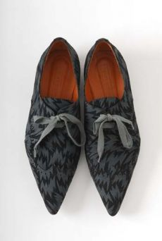 AW1112 SUEDE FLASH PRINT SHOES - BLACK - Other Image